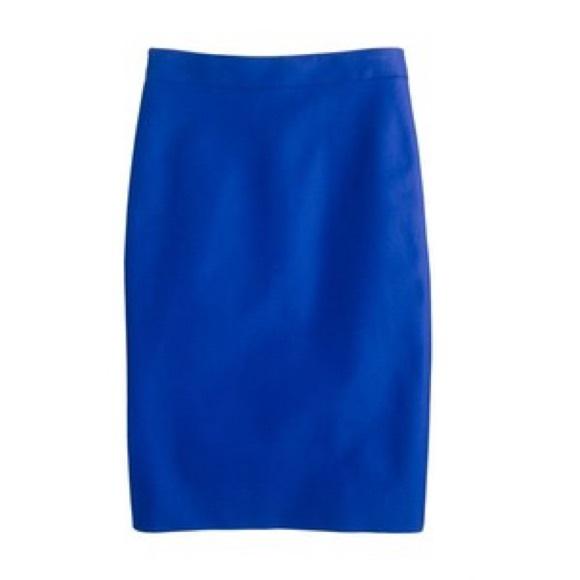 cf7f349c88 J. Crew Skirts | Jcrew No 2 Pencil In Wool Festival Blue 4p | Poshmark
