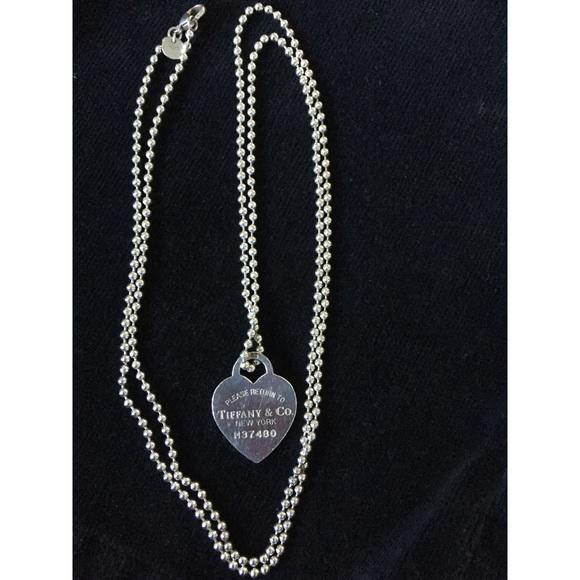 2f28230b3 Tiffany & Co. Jewelry | Return To Tiffany Heart Tag Pendant And Long ...