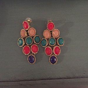 Jewelry - Fun multi colored earrings!