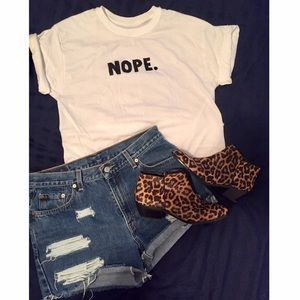 Stylish 'NOPE.' Graphic Tee - brand new!