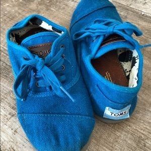 TOMS Other - 🔴SALE🔴TOMS Blue Wool Lace-Up Shoes Size Youth 1