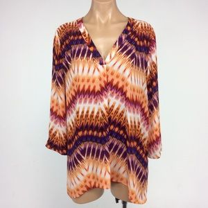 a.n.a Tops - Beautiful A.N.A Orange and Purple Blouse