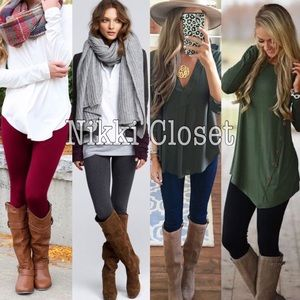 High waist leggings Pants - New OS fleece lined leggings 8 colors super soft