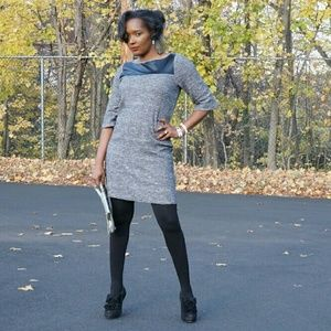 Dresses & Skirts - Dress with leather yoke