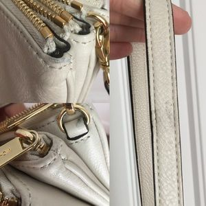 Michael kors Light cream 3 zipper crossbody