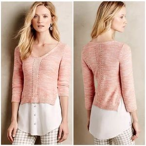 Anthropologie Layered Aselin Pullover by Moth