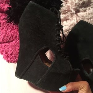 Jeffrey Campbell lace up booties