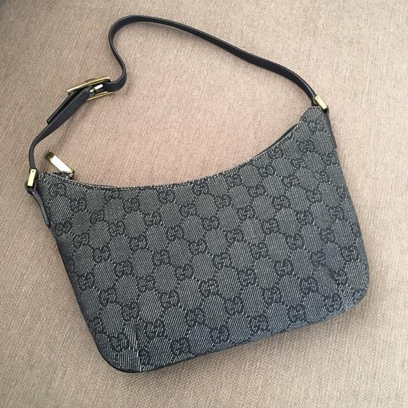 6a797667b324 Gucci Bags | Denim Black Gg Monogram Handbag | Poshmark