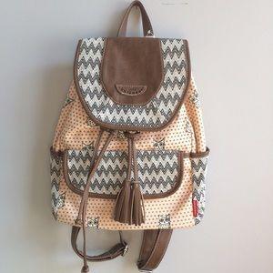 UNIONBAY Handbags - NWT Pale Pink & Gray Owl Backpack