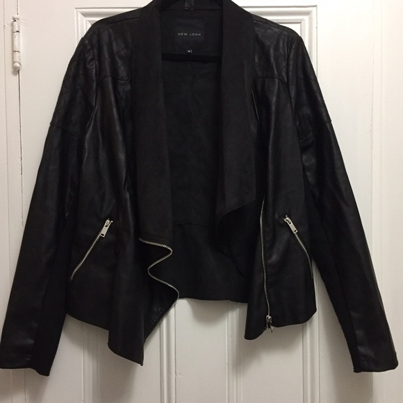 New Look Jackets Coats Suede And Leather Waterfall Jacket Poshmark