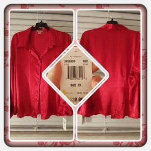 Notations Tops - ❤ NWT Woman's Red Shirt Size 2X ❤