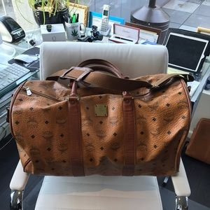 MCM Other - Authentic MCM Vintage Duffle Bag Leather Supr Rare