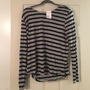 Gray and black striped h&m shirt brand new