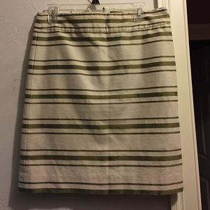 J.crew skirt. Gold striped.