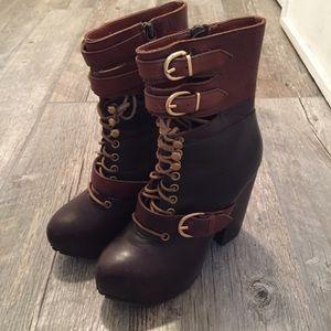 Miista Shoes - Miista Andee platform buckle boots
