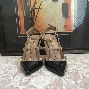 Valentino Shoes - 'Rockstud' T-Strap Pump (Women)