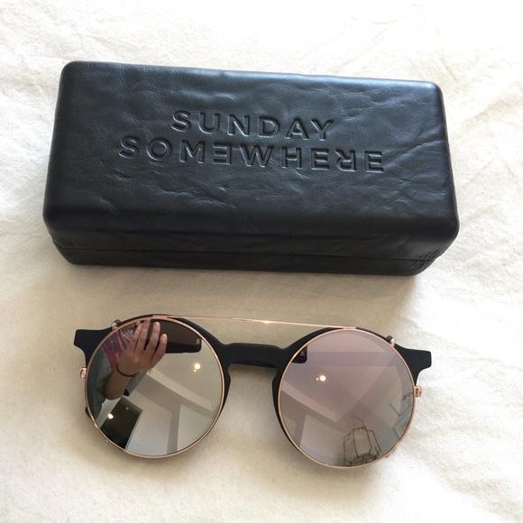 ea9e5146bd2f2 Sunday Somewhere Lorenzo Reflective Sunglasses. M 580ffc87bcd4a73b180fe63c