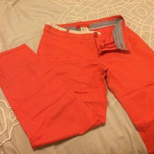 Orange Anthropologie capri pants, size 6