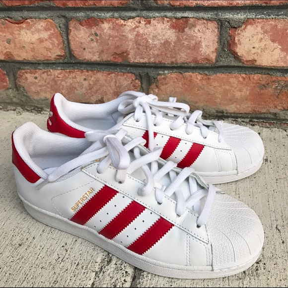 best service 210fa 515dd Adidas Shoes - Red and white Adidas All Stars