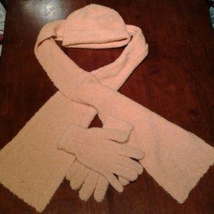  Sale!!  Hat, scarf, gloves set
