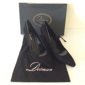 "Delman New York D- Delux -KP Black Size 10 Heel 4"""