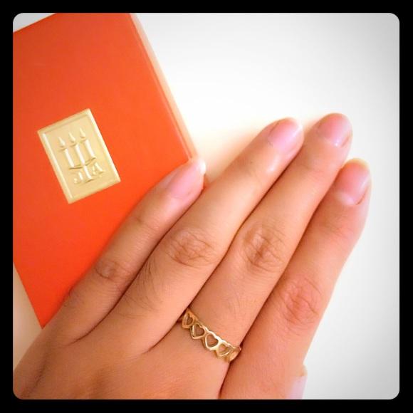 a110731f614e8 James Avery 14k gold tiny hearts size 6