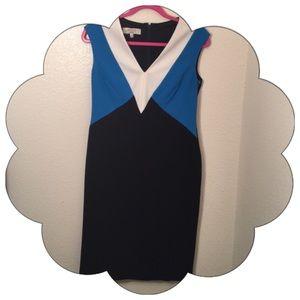 Kasper Dresses & Skirts - Colorblock Sheath Dress Size 4