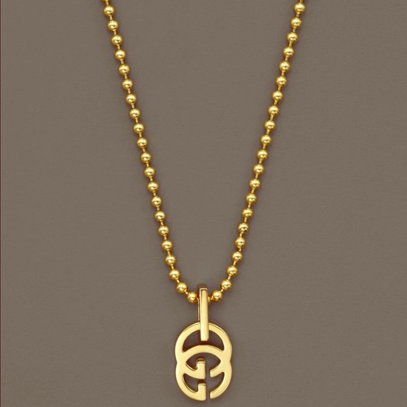 gucci necklace gold. gucci jewelry - 18k yellow gold running g necklace, 17.71\ necklace i