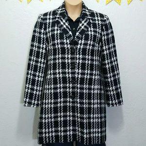 Worthington Jackets & Blazers - Worthington Black and White Plaid Pea-Coat G16