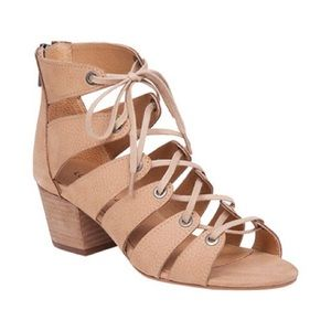 Lucky Brand Genevie Lace Up Sandal Bisque Sz 9.5
