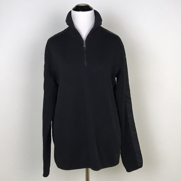 4dba4235c Hugo Boss Sweaters | Boss Sondrio Black 14 Zip Sweater | Poshmark
