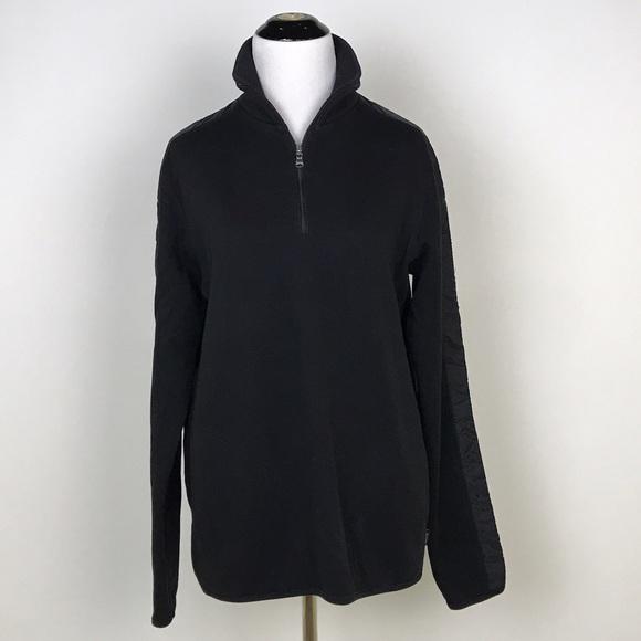 e0534dc6a Hugo Boss Sweaters | Boss Sondrio Black 14 Zip Sweater | Poshmark