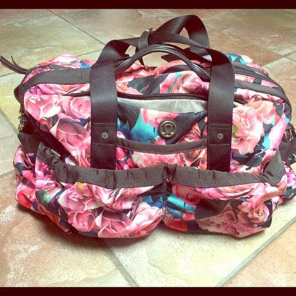 88749a75f84 lululemon athletica Handbags - Lululemon Secret Garden Bon Voyage yoga duffle  bag