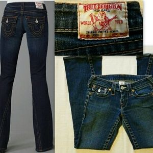 True Religion Denim - True Religion Jeans Auth Joey Flare Size 25 Hot!