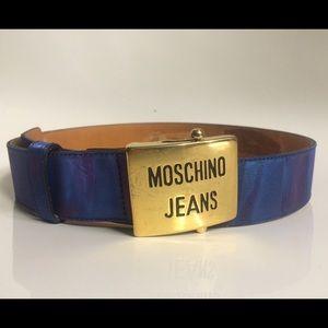 Vintage MOSCHINO Jean Hologram Belt