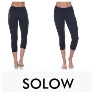 Solow Pants - NEW! Solow Eclon high-impact crop legging charcoal