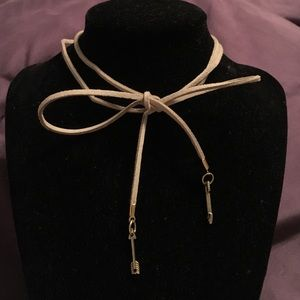 Tan suede arrow choker