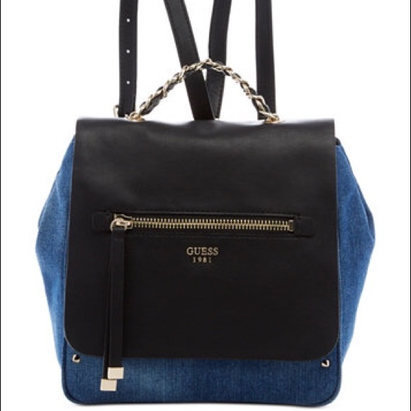 Guess Handbags - Guess Denim   Leather Sammie Backpack 3f90412849c9c