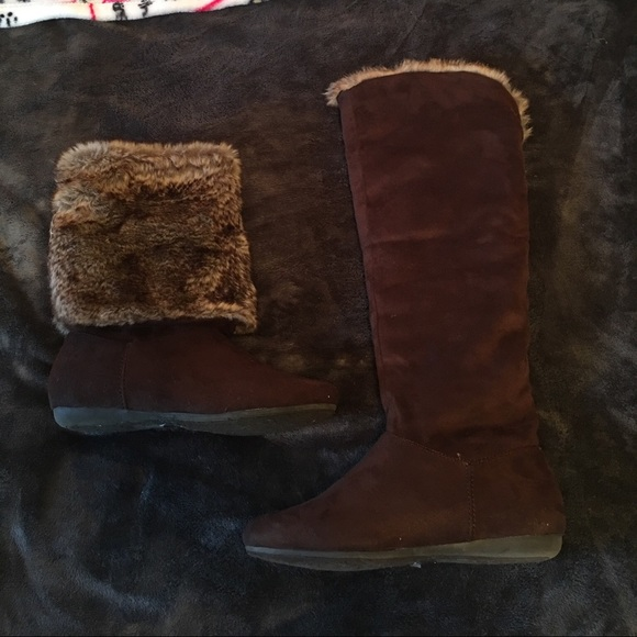 49 russe shoes 3 in 1 brown suede boots