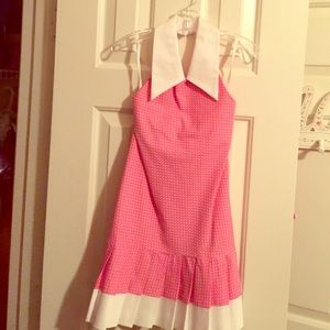 Helena Other - Helena Polka dotted whit and pink dress.