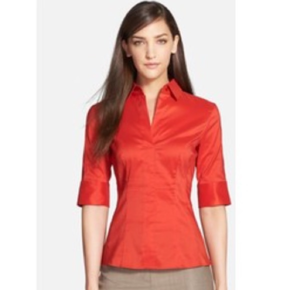 3aa30ff6a7a1 Hugo Boss Tops - Hugo Boss Fitted Women's Work Shirt