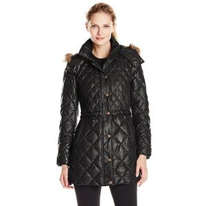 Andrew Marc Jackets & Blazers - Marc New York Kava Faux Fur Quilted Puffer Coat