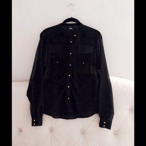 ASOS black blouse