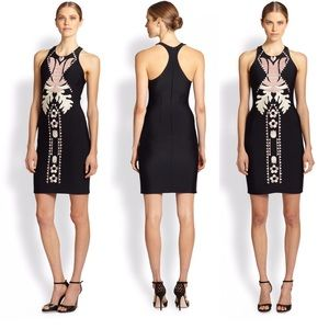 NWT Cynthia Rowley embroidered bonded fitted dress