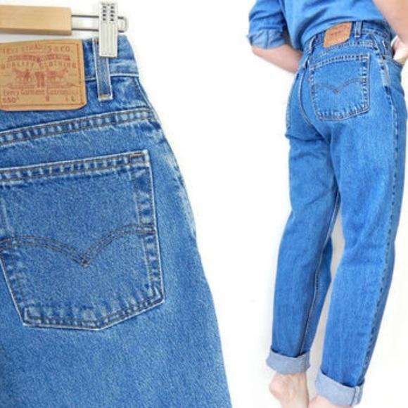 high waist levi's 550 jeans - 8 IUPpOtKo