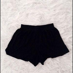 ASOS black culotte shorts