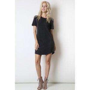 LAST ONE!! Dark Charcoal T Shirt Dress
