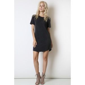 Hannah Beury Dresses & Skirts - LAST ONE!! Dark Charcoal T Shirt Dress
