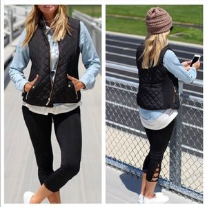 Hannah Beury Jackets & Blazers - Black Quilted Vest