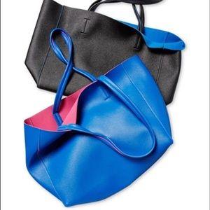 Macy's Handbags - Macy's Blue and Pink Tote Bag